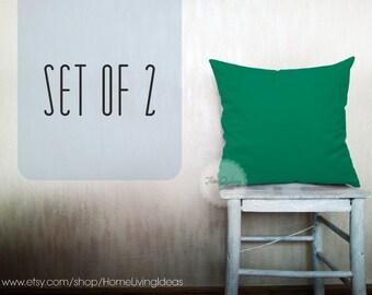 emerald green throw pillow cover decorative pillow cotton cushion cover pillow case emerald pillow home decor holiday pillow