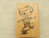 Stampendous Rubber Stamp, Skateboard Kiddo, Never Used