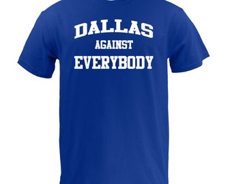 Dallas Against Everybody - White on Royal