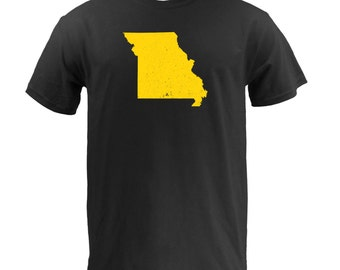 Distressed Missouri State Shape - Black