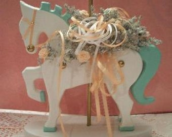 wooden carousel horse Shabby Chic cottage