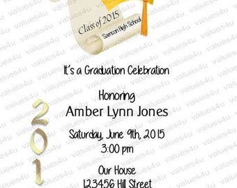 Personalized Graduation Party Invitation928