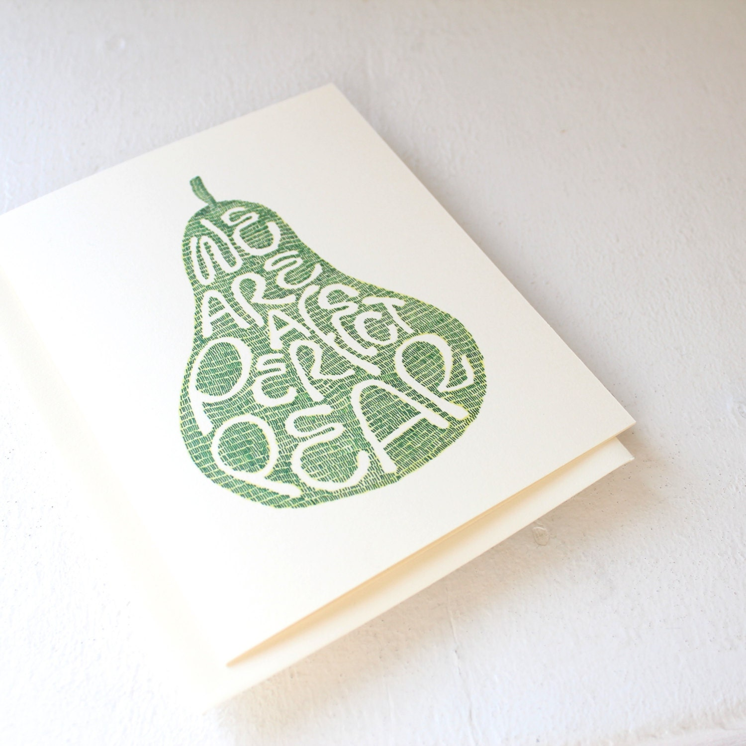 Unique quote card we are a perfect pear anniversary card unique quote card we are a perfect pear anniversary card engagement card handmade kristyandbryce Choice Image