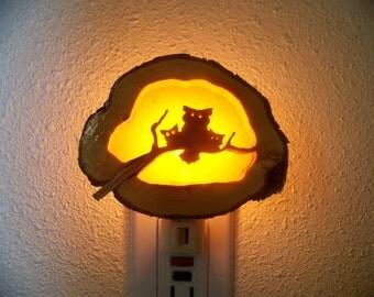 Owl family nightlight