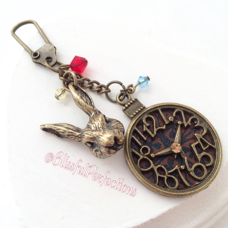 Are You Alice White Rabbit White Rabbit Keychain Alice