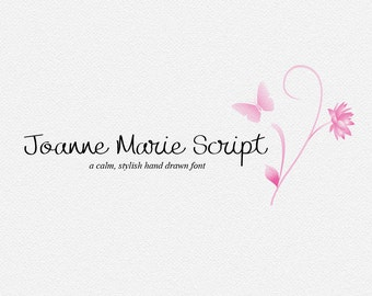 Digital font - Script Font - Calligraphy font - Joanne Marie Script font - Wedding font - Can be used for a photography logo Monogram