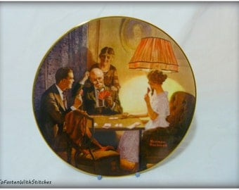 "Vintage Norman Rockwell ""This is the Room That Light Made""  Collector Plate"