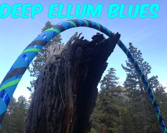 Deep Ellum Blues Specialty Taped Practice Hoop -  By Colorado Hoops