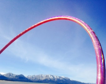 Electric Pink Festival HDPE  - Specialty Taped Practice Hoop -  By Colorado Hoops