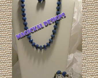 Blueberry Sky   ...Necklace, Earrings, & Bracelet Set