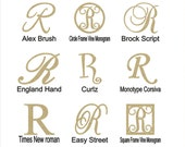 "Wooden Letter ""R"" Large or Small, Unfinished, Unpainted -- Perfect for Crafts, DIY, Nursery, Kids Rooms, Weddings"