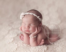 Pearl Newborn Bracelet, Swarovski Pearls and Crystal Bracelet