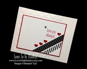 Love You Always Handstamped Card