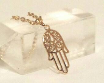 Handmade Hamsa Hand Necklace