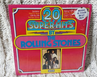 """The Rolling Stones- """"20 Super Hits By The Rolling Stones"""" vinyl record. German Import"""