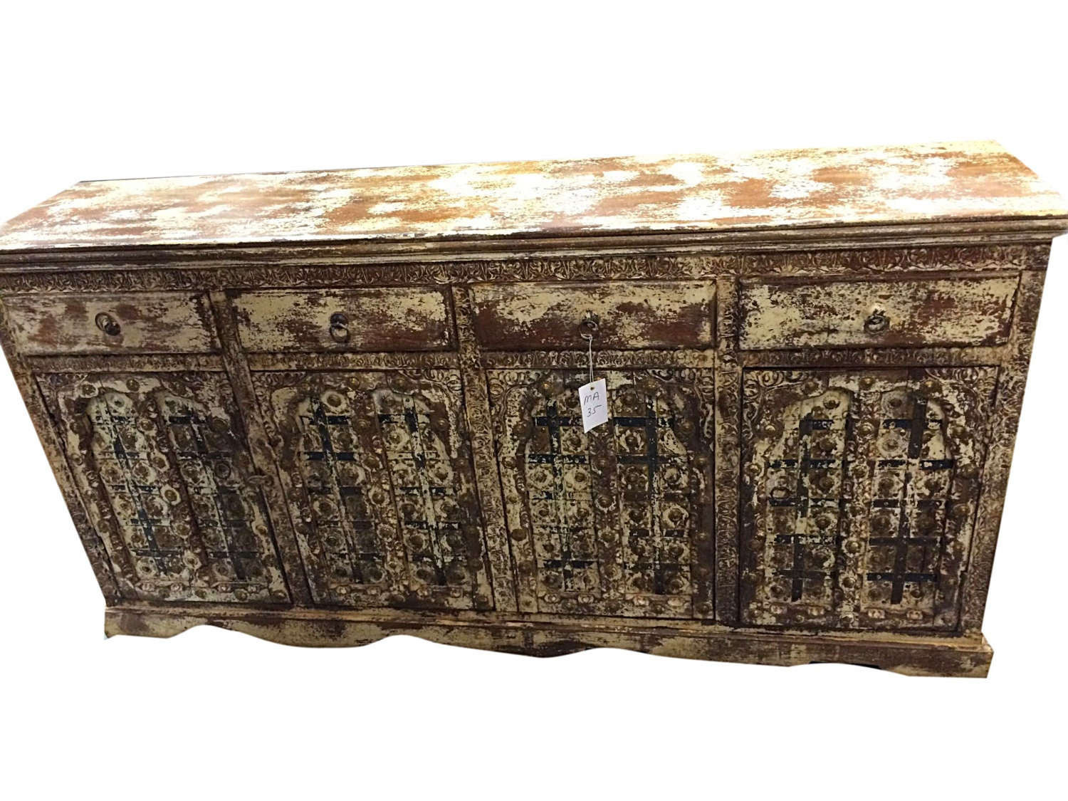 Indian Sideboard Antique Furniture Rustic By MOGULGALLERY