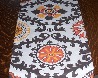 "72"" Orange Table Runner, Orange Runner, Table RUNNER, Orange Damask, Fall Runner, Buffet, Table Cover, Banquet Table, Holidays, Thanksgiving"