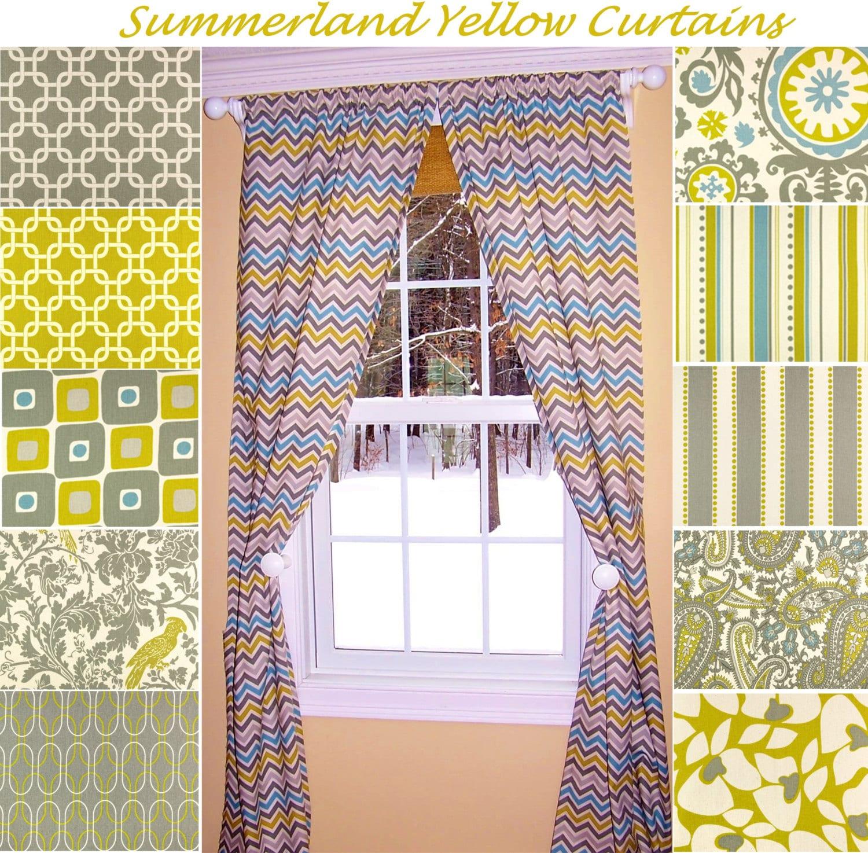 yellow curtainscitrus curtainschevron curtains zig zag
