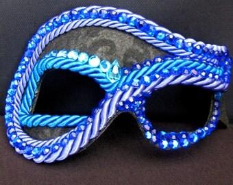 Masquerade Mask, Circus, Carnival Mask, Indigo - Oasis Sprite