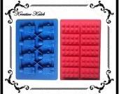 Lego Blocks Minifigure Silicone Molds Ice Tray Chocolate Jello Candy Crayon Tray