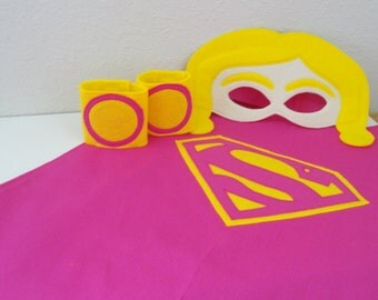 Super Girl Mask and Cape Set