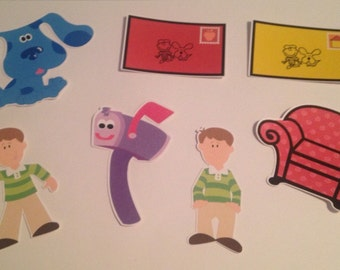 Blue's Clues Die Cuts set of 7
