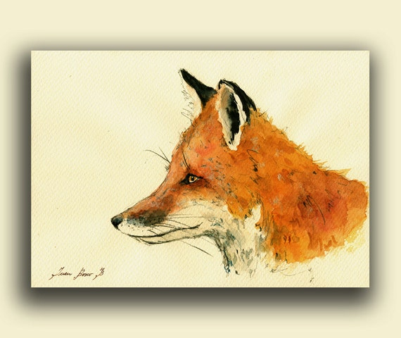 Fox Head Painting