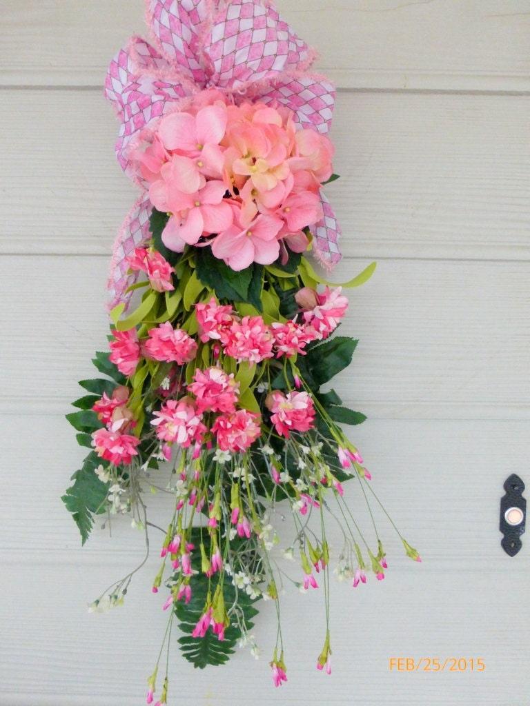 Hydrangea Door Swag - Spring door swag -Summer Wreath - Front door ...