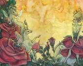 A Rose Dream -mini print/large postcard