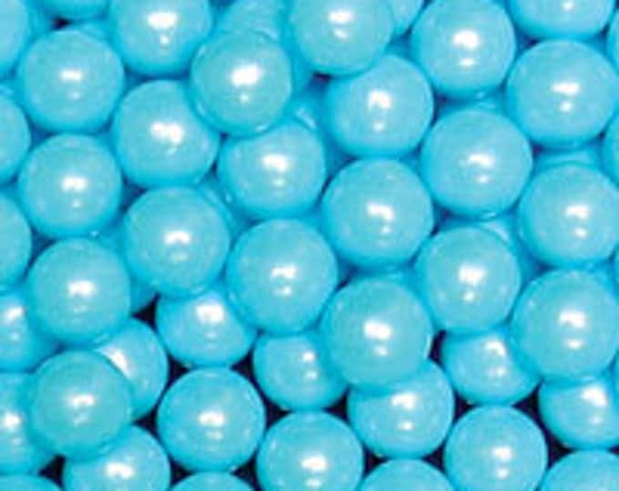Blue Pearl Candy Beads Edible Cupcake Decorations (2 ounces)