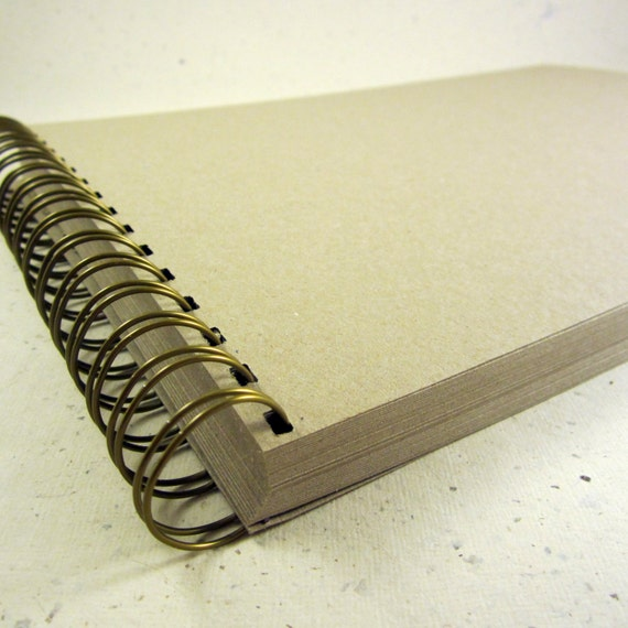 Brown Kraft Scrapbook, 80 Sides, Thick Card, Blank Guest Book, DIY, A4/A5