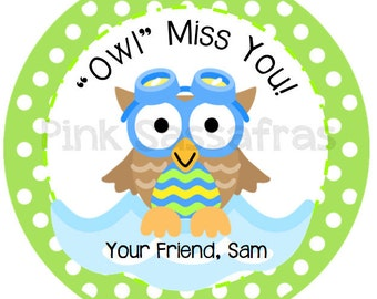 Owl Miss You Boy Gift Tags