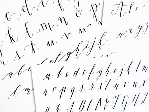 Add on to kaitlin style calligraphy worksheets