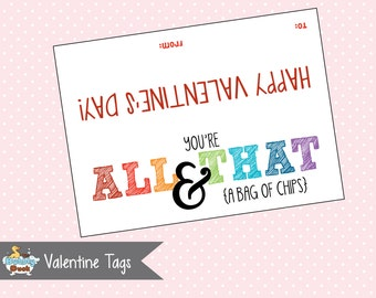 Valentine's Day Chips Bag Topper (Instant Download)