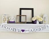 Bridal Shower décorations, bientôt Mrs bannière, signes de mariage, bientôt Mrs, partie de Bachelorette, décorations de mariage violet