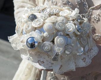 Alice in Wonderland Button Bouquet