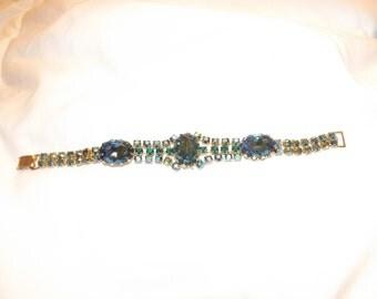 "D&E Juliana Blue Green AB Stone 7.3"" Bracelet-On Sale Now!"