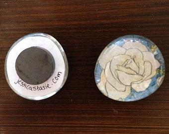 Sommerville Rose Fridge Magnet