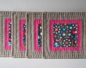Handmade Coasters Cotton Jewels Mug Mats