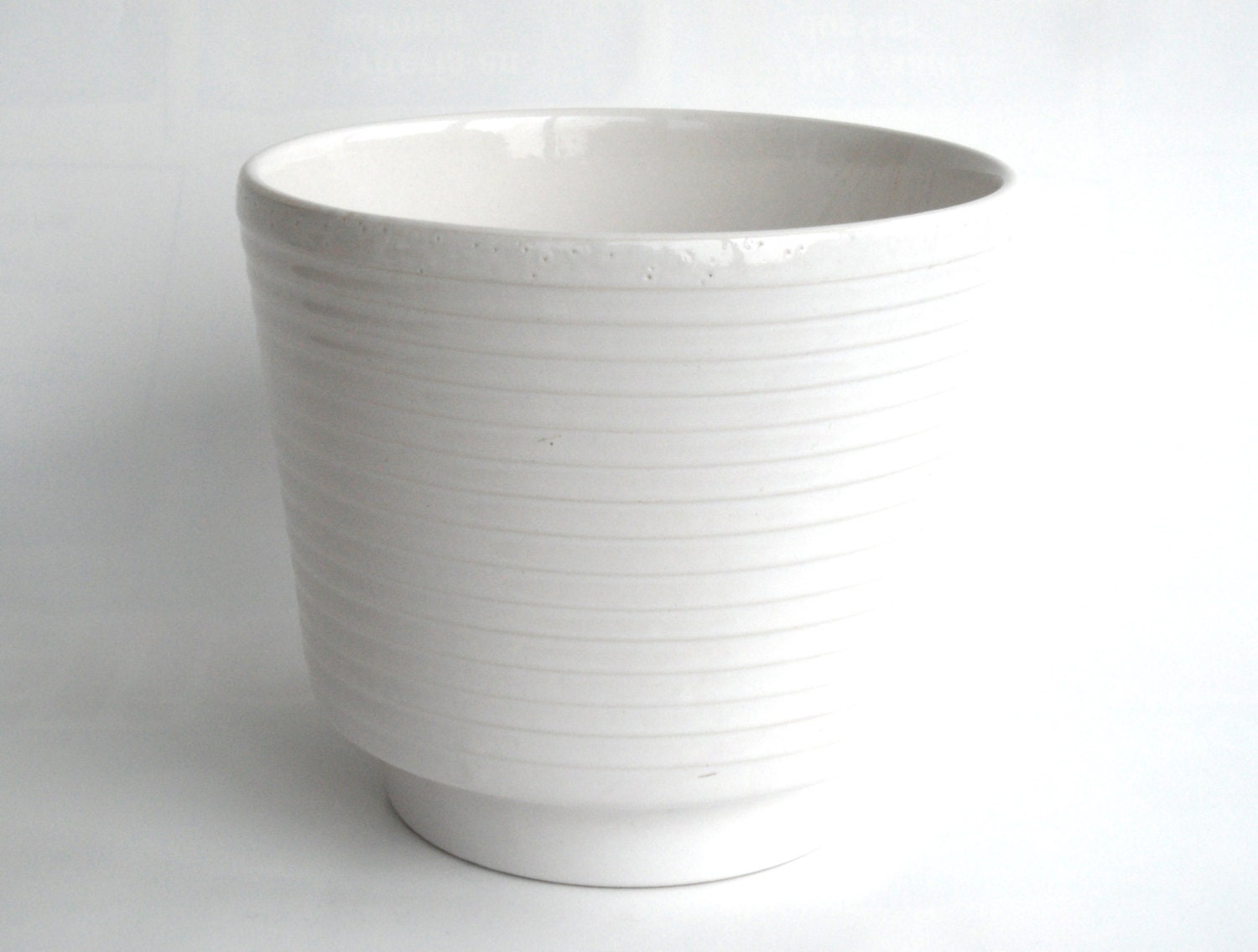 west german pottery planter large white plant pot by coollect
