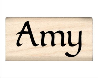 Amy - Name Rubber Stamp for Kids