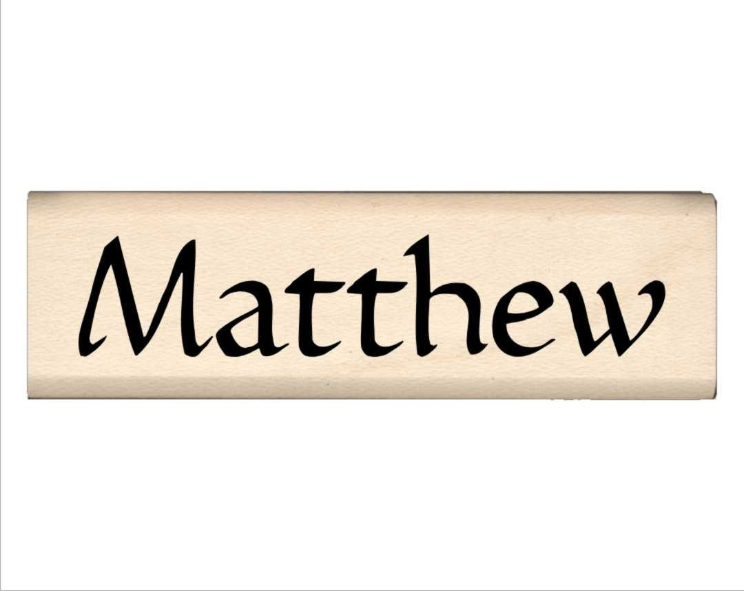 Matthew - Name Rubber Stamp for Kids from ...