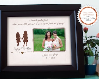 Best Friend Gift, Sister Gift, Maid of Honor Picture Frame, Personalized Bridesmaid Gift, Maid of Honor Gift Sister, Picture Frame