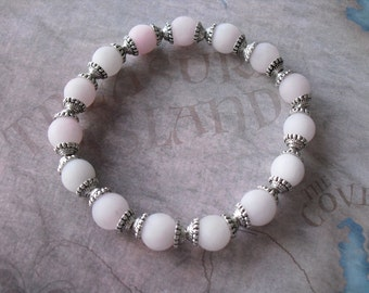 Beautiful Pink Matte Gemstone Bracelet