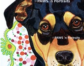 "PAWS'nPortraits - ""Savannah""~ Dog painting 8"" x 10"" x .75"", Not Framed - Signed Original portrait"