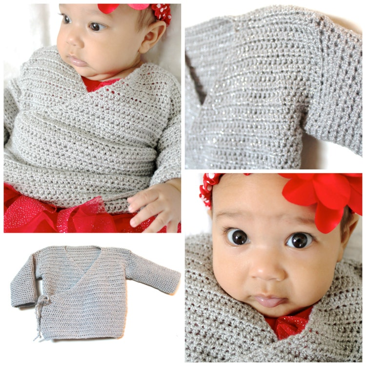 Baby Kimono Sweater PDF Crochet Pattern by AbigailHazeDesigns