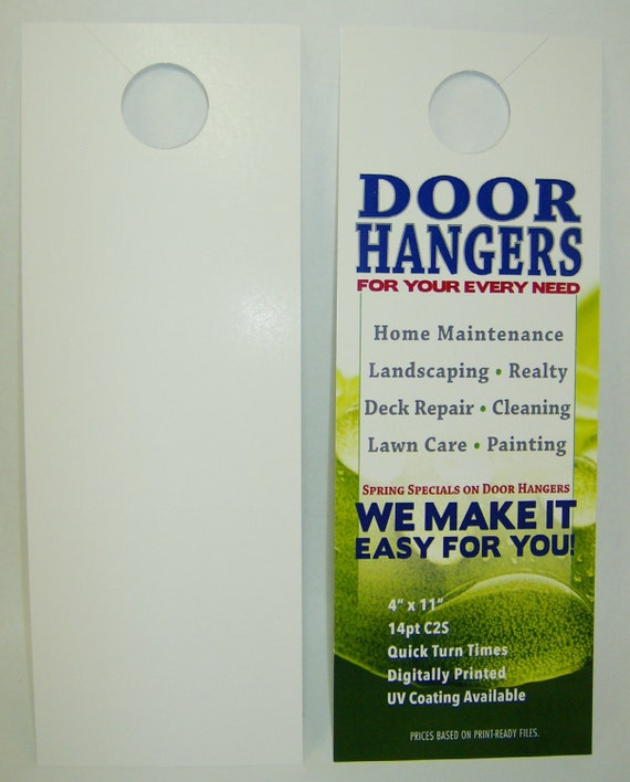 printed door hangers 1000 custom full color large