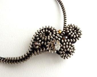 Starry Night Mini Zipper Necklace