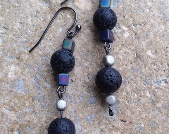 Black Elegance bracelet and earrings
