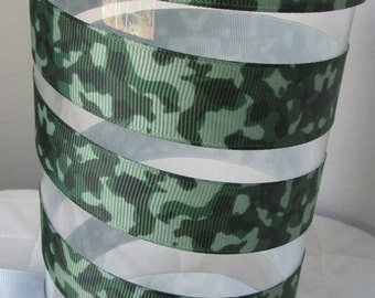 39-Camouflage Grosgrain Ribbon - 7/8 inch wide x3 or 5 yards